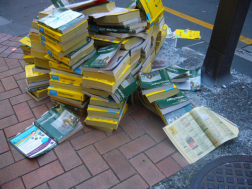 Yellow Pages in the Trash