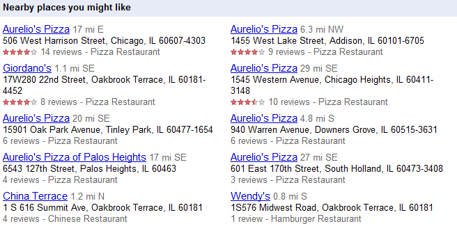 Nearby Places - Oakbrook
