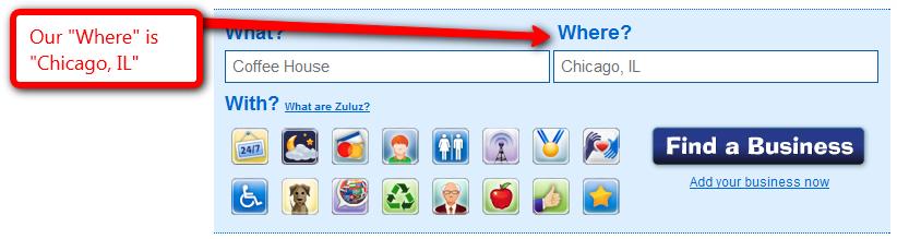 Zuluz search -- Where?