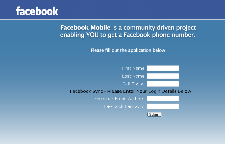 Facebook Hit With Mobile Phone Number Phishing Scam.