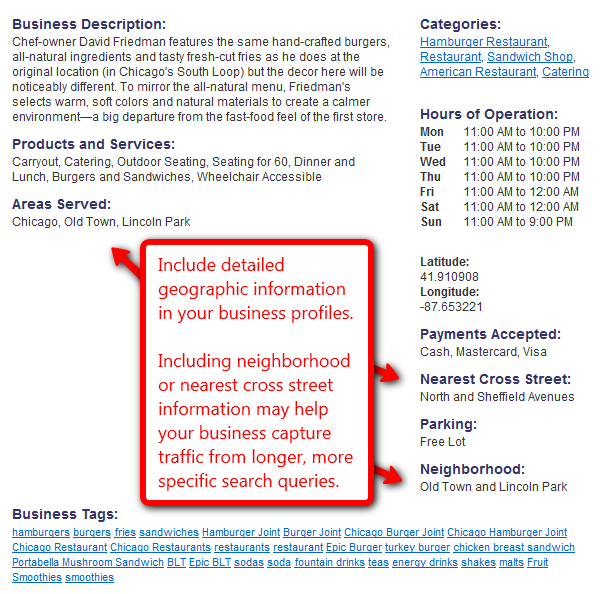 Include Detailed Geographic Info in Your Business Profiles.