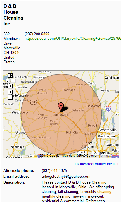 Google Maps Radius Map