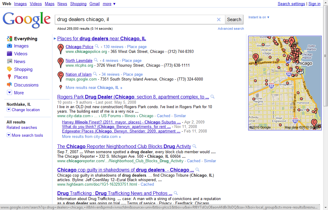 Looking for a drug dealer in Chicago? - EZlocal Blog on