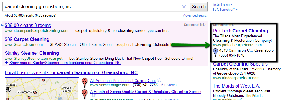 Google Boost Ad in Action
