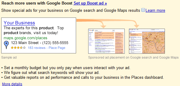 Google Places Boost