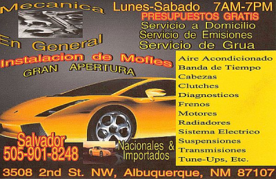 Auto Repair Albuquerque on Mecanica En General   Auto Repair Shop   Albuquerque  Nm 87107