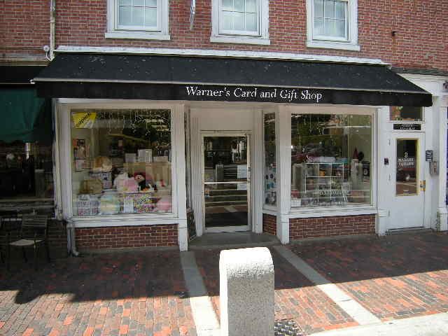 Warner 39 S Card Gift Shop Gift Shop Portsmouth Nh 03801